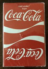 VINTAGE 1984 COCA-COLA Playing Deck of Cards with Red & White Double Logo Image