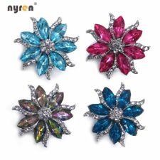 18mm Ginger Snap Button Flower Rhinestone Snap Charms For Snap Jewelry 0186