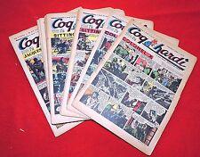COQ HARDI lot des n°6 à 31. Premier semestre 1951. Superbe état
