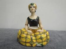 Encrier porcelaine polychrome HENRI DELCOURT à Boulogne (Robj,Argilor,Limoges)