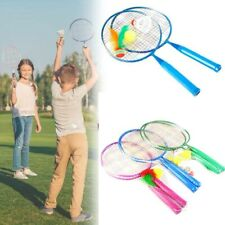 1 Pair Badminton Tennis Rackets Balls Set Children Kids Outdoor Sports Game Toys