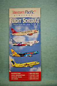 Western Pacific Airlines Timetable, Oct 29 - Jan 7, 1996