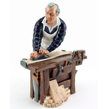 Royal Doulton Character Figurine The Carpenter Tools Figure Retired 1992 Pristne