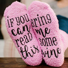 Novelty Fuzzy Pink Winter Home Bed Socks Wine Socks Cupcake Socks Funny Gift