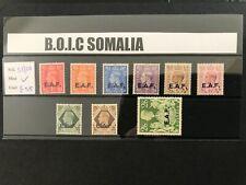 More details for boic/somalia 1943-6 sg s1/9 lightly mntd mint set cat £55