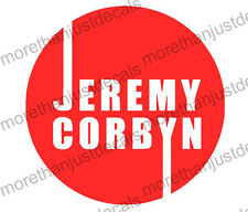 2 X Jeremy Corbyn Pegatina de vinilo, etiqueta, ventana, portátil, pared, espejo 15cm (ref 321)