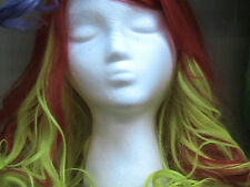Red and Yellow costume wig long