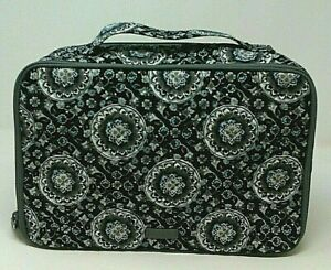 Vera Bradley Iconic Large Blush & Brush Case Charcoal Medallion