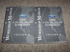 2009 Ford F-250 Shop Service Repair Manual XL XLT 5.4L 6.4L V8 Diesel 6.8L V10