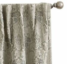 *Sun Zero Mayfair Room-Darkening Rod-Pocket/Tab Curtain Panel 54x63 Mushroom NEW