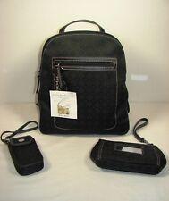 Nine West Black Fabric Backpack Purse ~ New