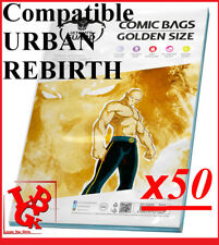 Pochettes Protection GOLDEN Size REFERMABLES comics x 50 REBIRTH URBAN # NEUF #