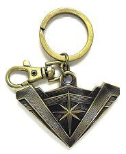 Batman vs Superman Wonder Woman Logo Brass Pewter Key Ring