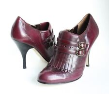 Enzo Angiolini Women's Burgundy Wine Fall Ankle Boots Stiletto Heels Size 6M