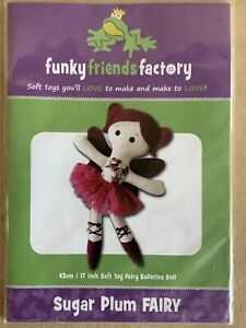 """SUGAR PLUM FAIRY Sewing Pattern for a 17"""" Stuffed Toy by Funky Friends Factory"""