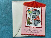 Ernie Elephant  Vintage Unused Happy Birthday Greeting Card