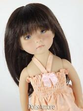 "BEAUTIFUL DARK BROWN DOLL WIG SIZE 8/9"" FITS VINTAGE AND MODERN DOLLS"
