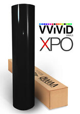 "VViViD Black Gloss car vehicle vinyl wrap 3"" x 4"" sample decal 3mil decal sheet"