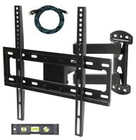 "Full Motion Tilt Swivel Arm TV Monitor Mount Bracket for 23""- 55"" LCD LED Plasma"