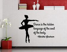 Martha Graham Quote Wall Decal Dance Vinyl Sticker Dancing Poster Decor 133ct