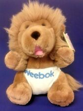 "Reebok Plush Weebok Willoughby VTG Lion Diaper Hang Tag Story Book 11"" 1987 Rare"