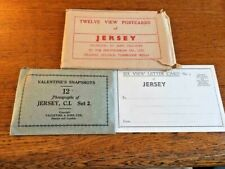 VALENTINE'S SNAPSHOTS  of JERSEY, POSTCARDS in SEPIA GRAVURE +6 View Letter Card