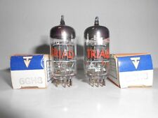 6GH8 TRIAD VACUUM TUBES NOS PAIR TESTED (B9)