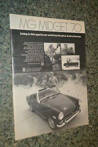 ★★1970 MG MIDGET ORIGINAL ADVERTISEMENT AD PRINT 70