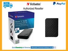 ($0 P & H) Verbatim 4TB External Store n Save Hard Drive USB 3 HDD 4TB Pn: 47685
