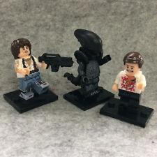 3 PCS Horror Movie Alien Xenomorph Officer Kane Ripley Mini Figure Toy Rare