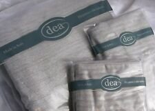 Dea Queen Duvet Cover and Two Euro Shams , Luce Lurex Silver, Made in Italy, Nwt