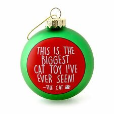 """MERRY CHRISTMAS FROM THE CAT Ornament, Biggest Toy Ever Seen, 5"""" Tall, by Enesco"""