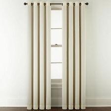 """JCPenney Home Very Natural McKenna Room-Darkening Grommet Curtain Panel, 50""""x63"""""""