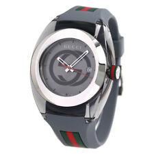 Gucci SYNC YA137109 Grey Rubber Strap Men's Watch