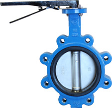 4 CPS Lug Style Ductile Iron Butterfly Valve, 316SS Disc, EPDM Liner