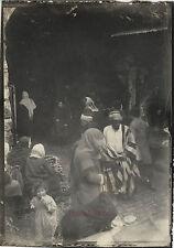 Jérusalem Entrée des bazars Photo originale 9x6,5cm Voyage en Orient 1909