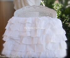 Petticoat Tiered King Bed Valance Bed Skirt Shabby White Ruffles Chic 6 Layers
