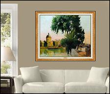 Constantin Kluge Original Paris Cityscape Painting Large Signed Oil On Canvas