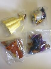 Vtg McDonalds Happy Meal Toy 1992 Disney Beauty And The Beast Full Set Of 4