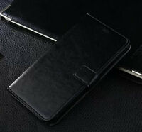 Black Flip Wallet PU Leather Stand Case Cover For Samsung Galaxy Note II 2