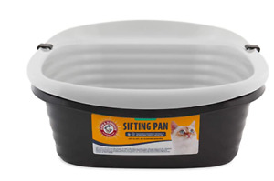 Large Self Sifting Box Cat Litter Pan 3 Part System Tray No Shak Clean Slotted