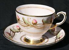 TUSCAN CHINA CUP & SAUCER 9682 H Pink ACORNS Gold England