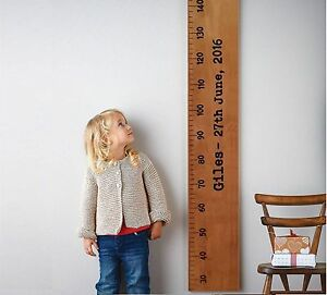 Height Growth Chart Wooden Ruler   Baby Gift   Personalised   Home Family Wall