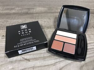 Avon True Color Eyeshadow Quad Warm Sunrise With Mirrored Compact Wand NEW