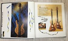 More details for scrapbook half full of bass guitars with info 17 pages 36 sides fender peavey