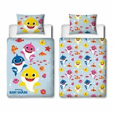 Baby Shark Fishes Junior Duvet Cover Set Toddler Bedding Reversible