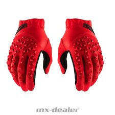 100% Prozent Airmatic Handschuhe Rot  MTB DH MX Motocross Enduro Quad BMX