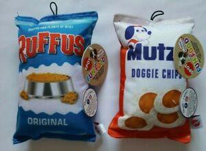 Spot Fun Food Dog Toy With Squeaker (SET OF 2) 1-Ruffus & 1-Mutzz