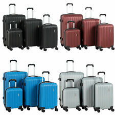 Set Of 4 Luggage Set ABS Lightweight Travel Hard Case Suitcase 16