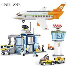 City Airport Airplane 678pcs  Plane Building Blocks Bricks Figures Puzzle Toy